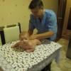 Ильяс очень старался и выполнял все упражнения на отлично. Детский массаж очень благотворно влияет на грудничков.
