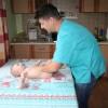 Вова, 5 месяцев, детский массаж на дом в поселке Горки Ленинского района.